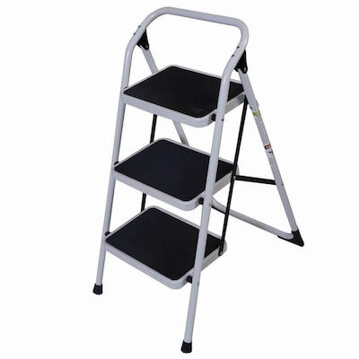Portable+3+Step+Steel+Step+Stool+with+300lb.+Load+Capacity
