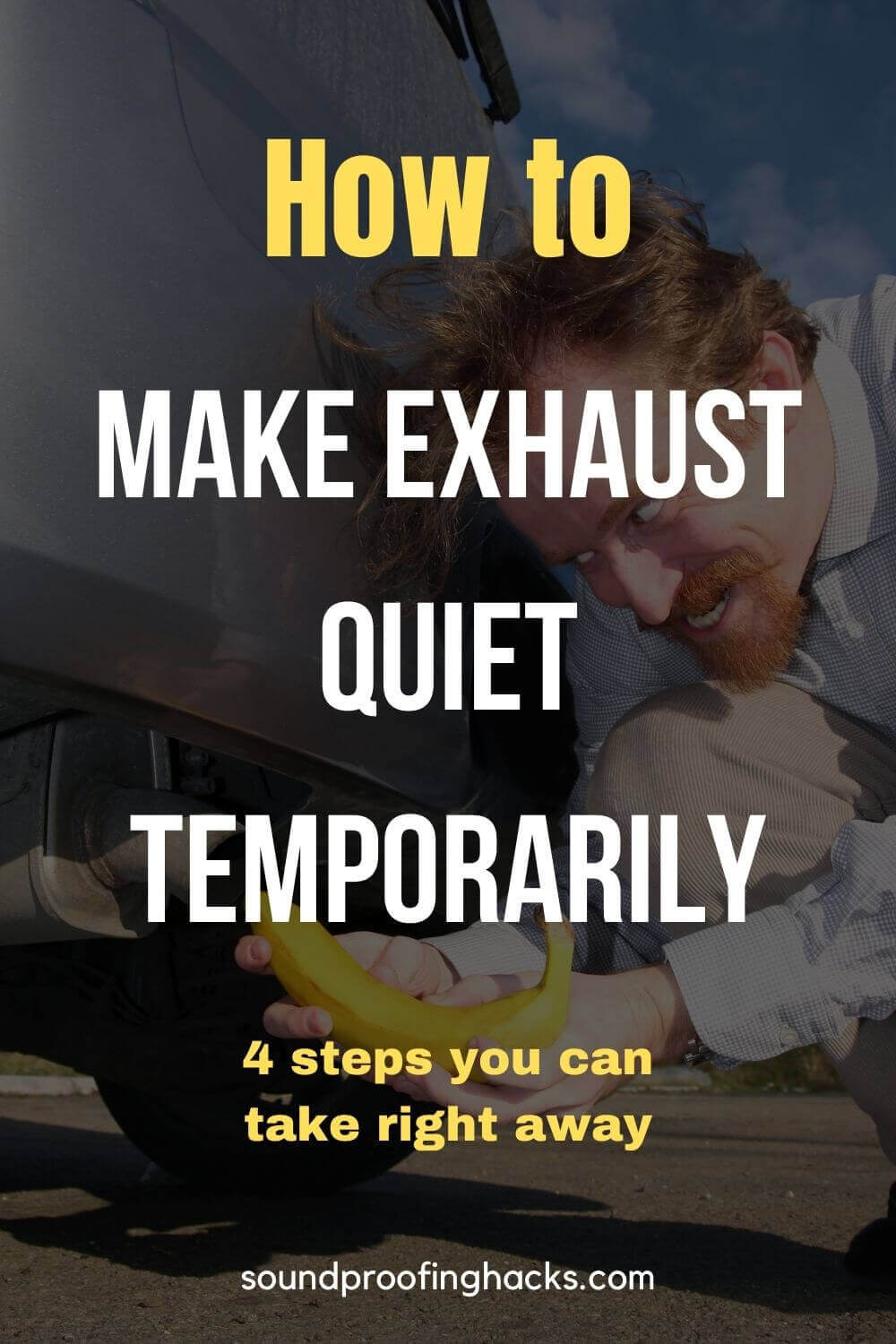 how to make exhaust quiet temporarily pinterest